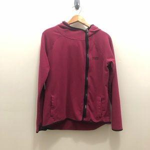 Pink small cranberry hooded zip up sweatshirt
